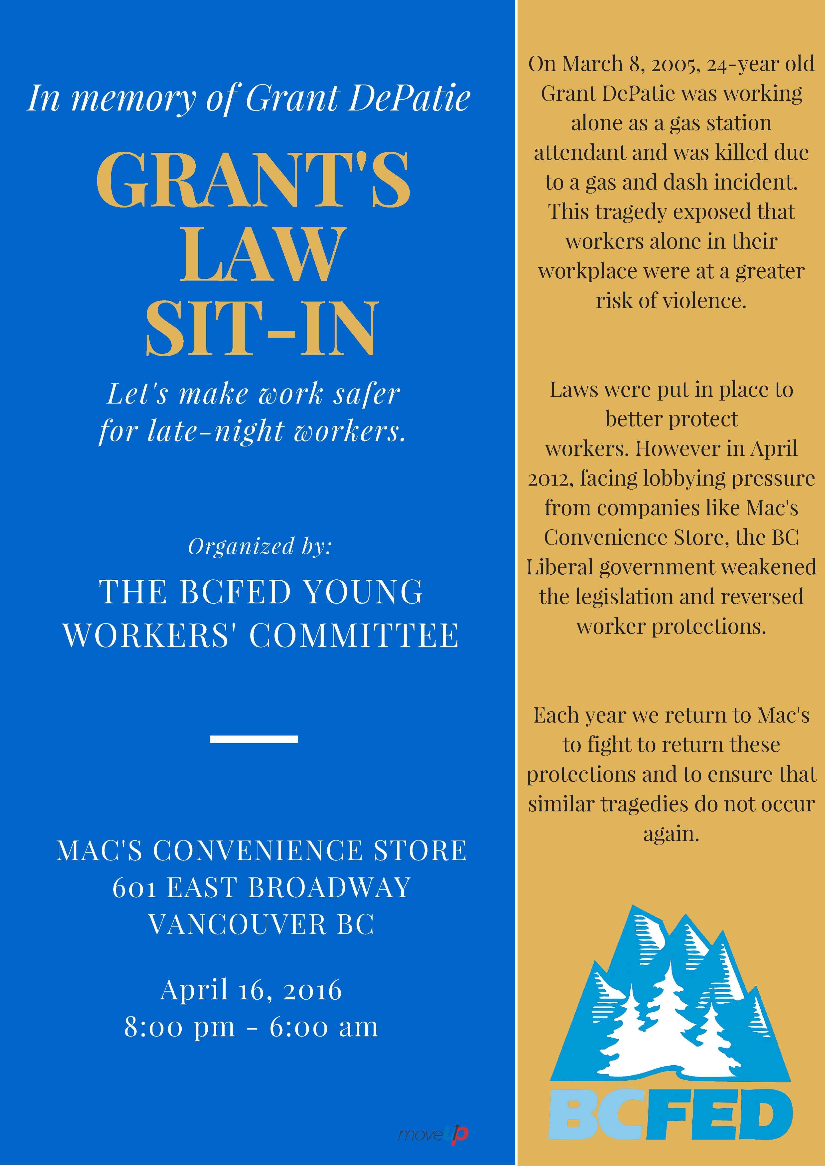 Grant's LawSit-in April 16